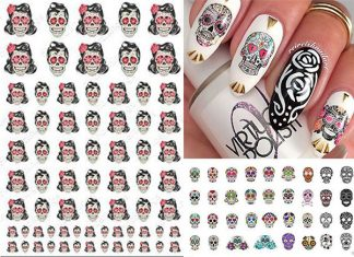 12-Halloween-Skull-Nail-Art-Stickers-2018-Monster-Nails-F