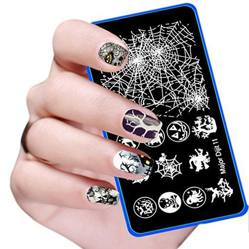 12 Halloween Themed Nail Art Stamps For Girls Women 2018 Idea
