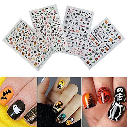 15-Simple-Halloween-Nail-Art-Stickers-2018-15