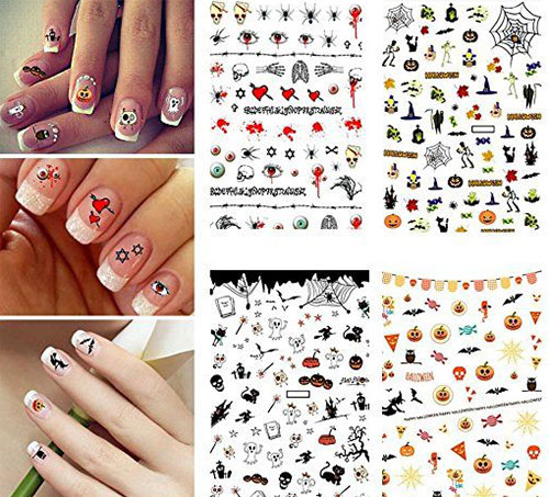 15 Simple Halloween Nail Art Stickers 2018 Idea Halloween