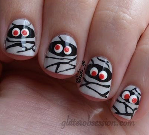 18-Creepy-Halloween-Mummy-Nails-Art-Designs-Ideas-2018-12