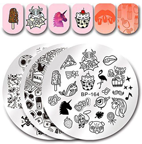 18-Halloween-Themed-Nail-Art-Stamping-Kits-For-Girls-Women-2018-1