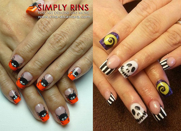 20 Very Easy Halloween Acrylic Nail Art Designs & Ideas ...
