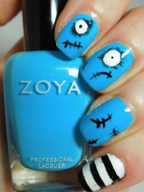 25-Very-Easy-Simple-Halloween-Nails-Art-Designs-2018-21