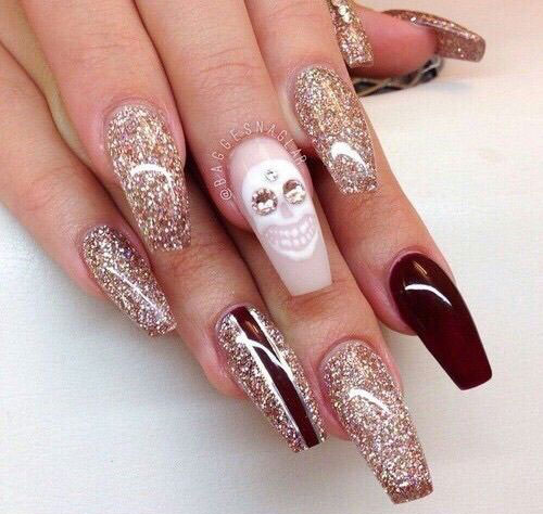 30-Halloween-Skull-Nail-Art-Designs-Ideas-2018-Monster-Nails-11