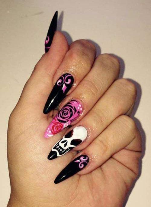 30-Halloween-Skull-Nail-Art-Designs-Ideas-2018-Monster-Nails-26