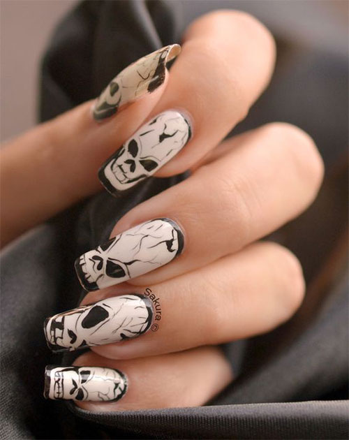 30-Halloween-Skull-Nail-Art-Designs-Ideas-2018-Monster-Nails-27