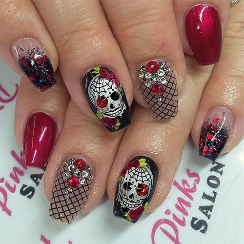 30 Halloween Skull Nail Art Designs Ideas 2018 Monster Nails
