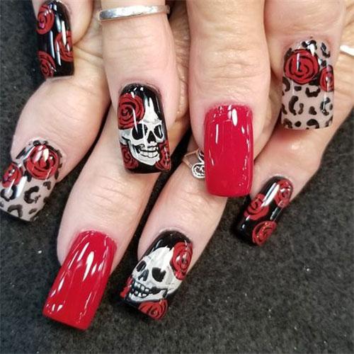 30-Halloween-Skull-Nail-Art-Designs-Ideas-2018-Monster-Nails-7