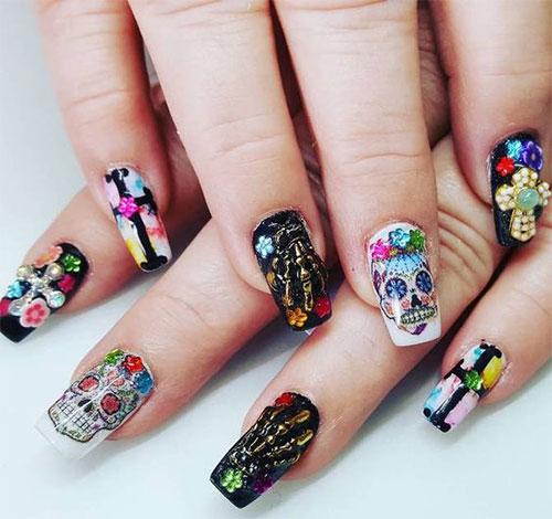 30-Halloween-Skull-Nail-Art-Designs-Ideas-2018-Monster-Nails-9