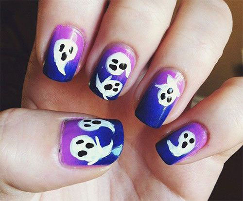 30-Spooky-Halloween-Ghosts-Nail-Art-Ideas-2018 -Boo-Nails-12