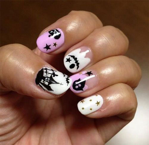 30-Spooky-Halloween-Ghosts-Nail-Art-Ideas-2018 -Boo-Nails-15