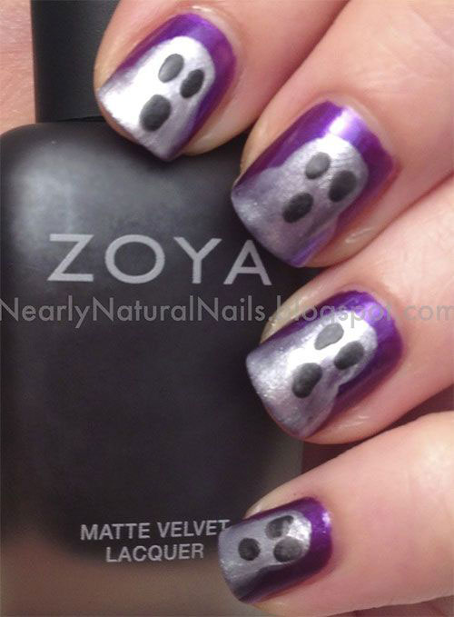30-Spooky-Halloween-Ghosts-Nail-Art-Ideas-2018 -Boo-Nails-2