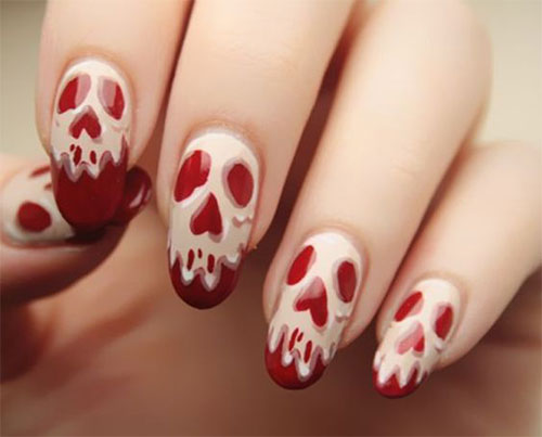 30-Spooky-Halloween-Ghosts-Nail-Art-Ideas-2018 -Boo-Nails-22