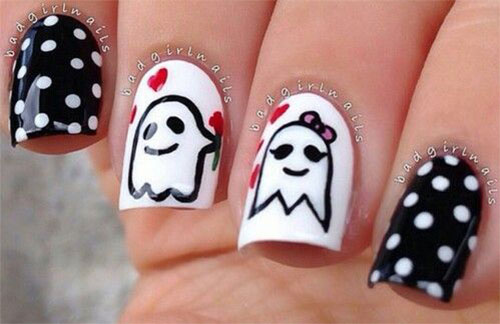 30-Spooky-Halloween-Ghosts-Nail-Art-Ideas-2018 -Boo-Nails-27