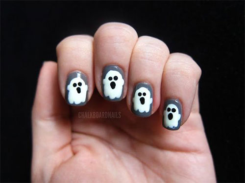 30-Spooky-Halloween-Ghosts-Nail-Art-Ideas-2018 -Boo-Nails-29