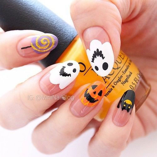 30-Spooky-Halloween-Ghosts-Nail-Art-Ideas-2018 -Boo-Nails-30