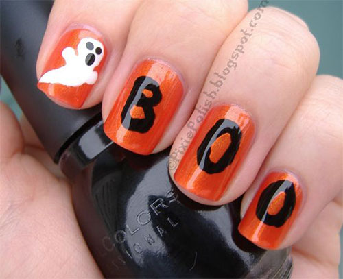 30-Spooky-Halloween-Ghosts-Nail-Art-Ideas-2018 -Boo-Nails-5