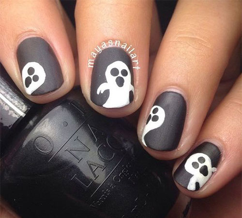 30-Spooky-Halloween-Ghosts-Nail-Art-Ideas-2018 -Boo-Nails-9