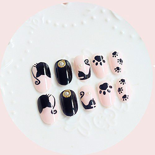 Halloween-Black-Cat-Nail-Art-Stickers-Decals-2018-6