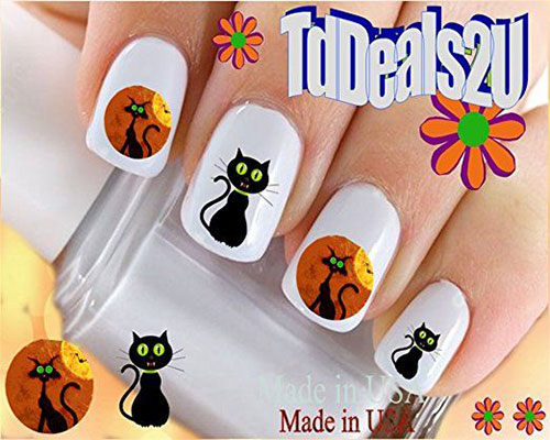 Halloween-Black-Cat-Nail-Art-Stickers-Decals-2018-7