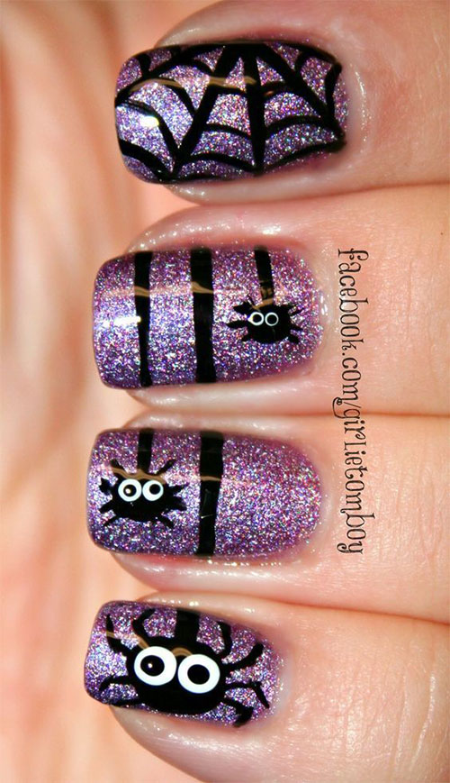 Halloween-Inspired-Nails-Art-Designs-Ideas-For-Kids-2018-10