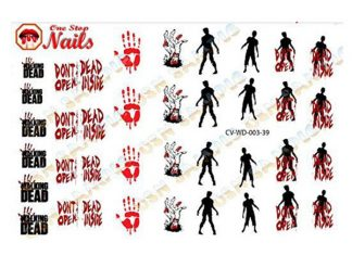Halloween-Inspired-Zombie-Nail-Art-Stickers-2018 -The-Walking-Dead-Nails-F