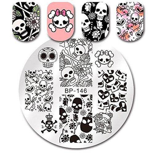 Halloween-Skull-Nail-Art-Stamping-Kits-For-Girls-Women-2018-1