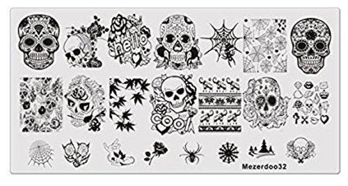 Halloween-Skull-Nail-Art-Stamping-Kits-For-Girls-Women-2018-7