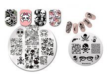 Halloween-Skull-Nail-Art-Stamping-Kits-For-Girls-Women-2018-F