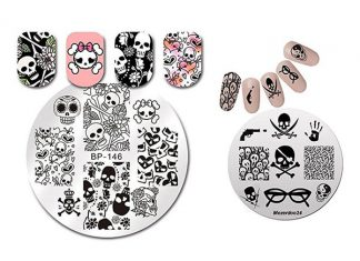 Halloween-Skull-Nail-Art-Stamping-Kits-For-Girls-Women-2018-F