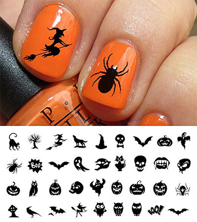Simple-Halloween-Nail-Decals-For-Girls-Women-2018-2