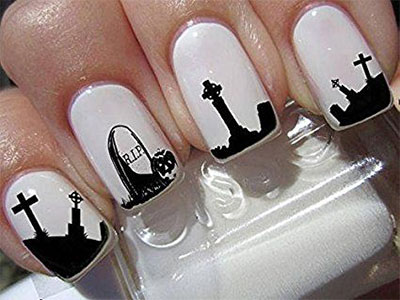 Simple-Halloween-Nail-Decals-For-Girls-Women-2018-5