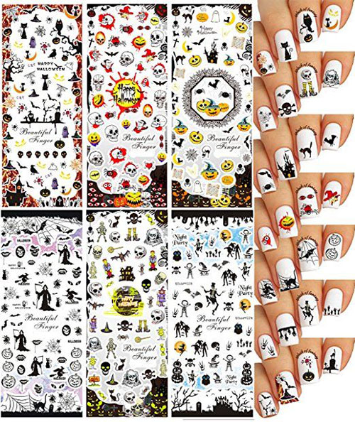 Very-Simple-Halloween-Nail-Stickers-For-Girls-Women-2018-1