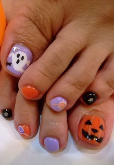 Toe Nail Art Designs Halloween Hession Hairdressing