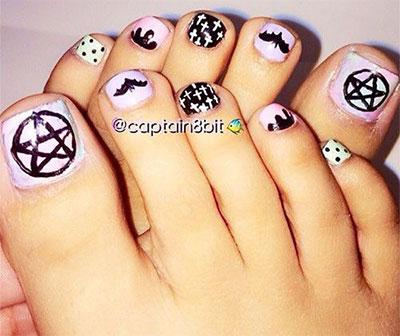 Toe Nail Art Designs Halloween Papillon Day Spa