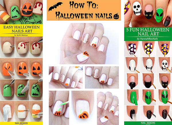 Step By Step Easy Halloween Nail Art Tutorials For Beginners 2018 Idea Halloween,Current Mens African Shirts Designs 2019