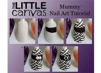 Step-By-Step-Mummy-Halloween-Nail-Art-Tutorials-For-Learners-2018-F