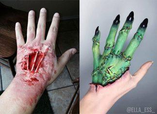 15-Creepy-Halloween-Hand-Arm-Makeup-Ideas-Looks-2018-f