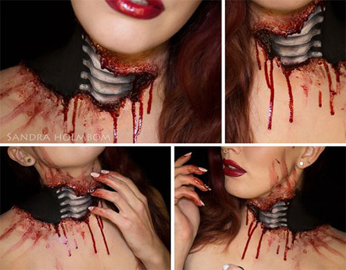 15-Horror-Halloween-Neck-Makeup-Ideas-Styles-Looks-2018-17