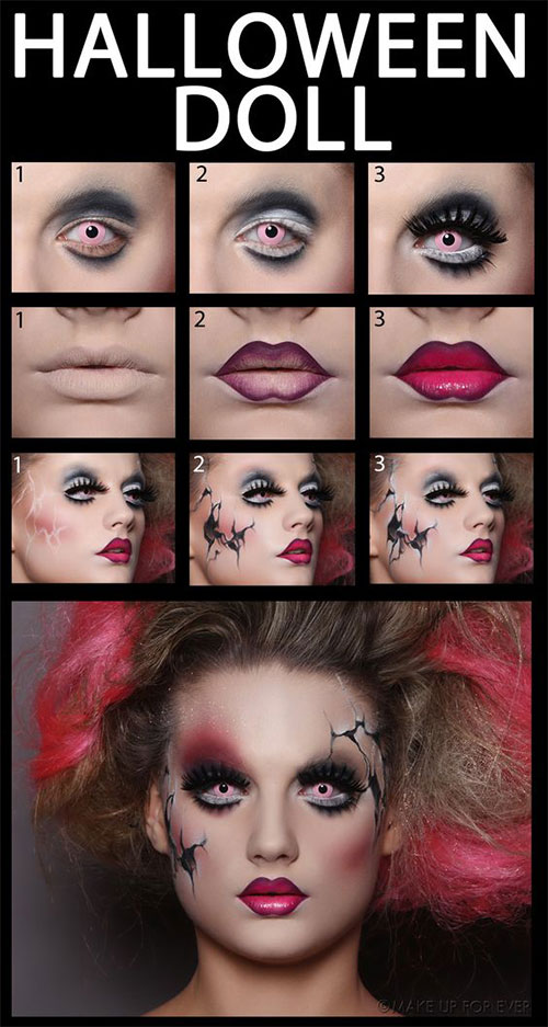 15-Simple-Step-By-Step-Halloween-Face-Makeup-Tutorials-For-Learners-2018-1