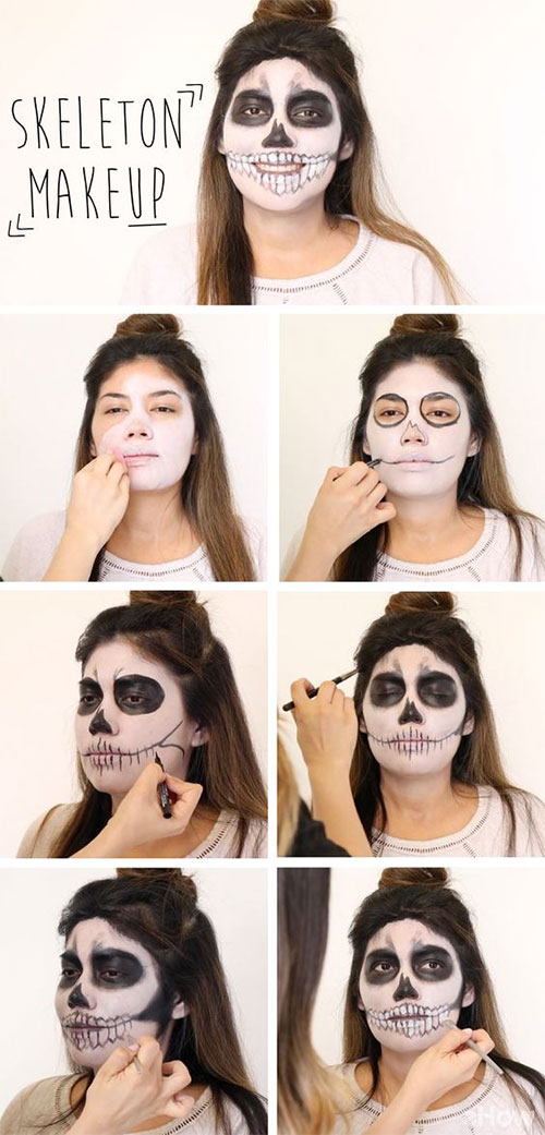 15-Simple-Step-By-Step-Halloween-Face-Makeup-Tutorials-For-Learners-2018-11
