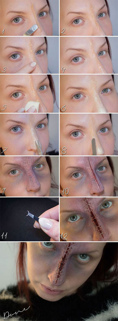 15-Simple-Step-By-Step-Halloween-Face-Makeup-Tutorials-For-Learners-2018-2