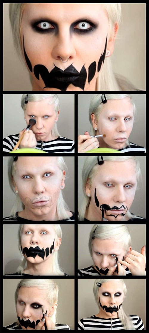 15-Simple-Step-By-Step-Halloween-Face-Makeup-Tutorials-For-Learners-2018-3
