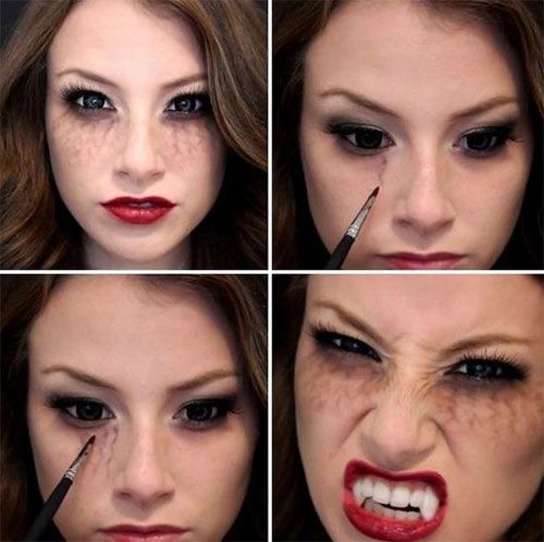 15-Simple-Step-By-Step-Halloween-Face-Makeup-Tutorials-For-Learners-2018-5
