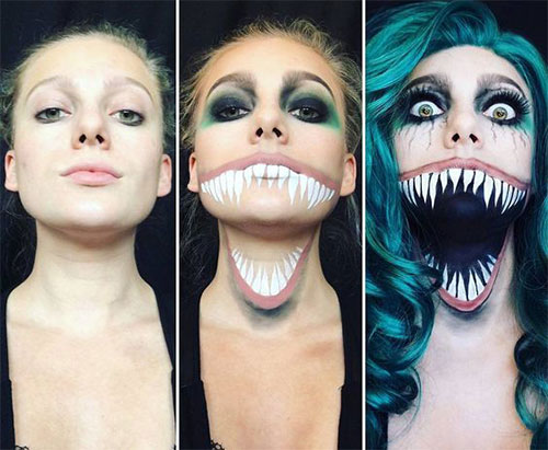 15-Simple-Step-By-Step-Halloween-Face-Makeup-Tutorials-For-Learners-2018-6