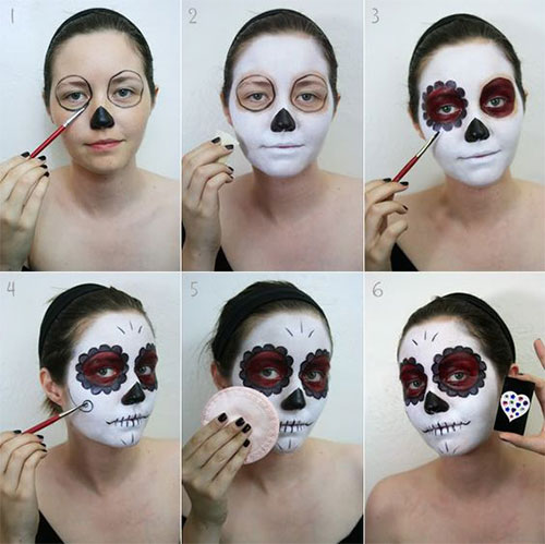 15-Simple-Step-By-Step-Halloween-Face-Makeup-Tutorials-For-Learners-2018-7