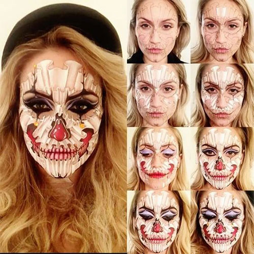 15-Simple-Step-By-Step-Halloween-Face-Makeup-Tutorials-For-Learners-2018-8