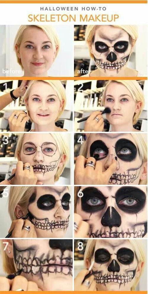 15-Simple-Step-By-Step-Halloween-Face-Makeup-Tutorials-For-Learners-2018-9
