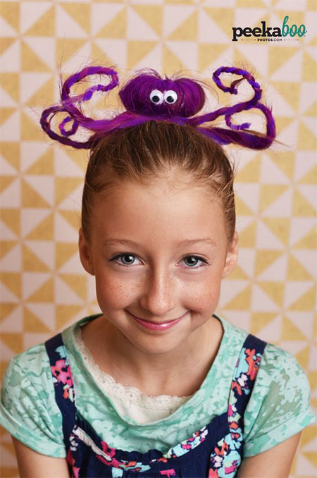 50-Crazy-Funky-Halloween-Hairstyles-For-Little-Girls-Kids-2018-3